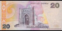 Kirghizistan - p19 - 20Som - 2002 - Kyrgyz Banky