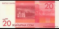 Kirghizistan - p24 - 20Som - 2009 - Kyrgyz Banky