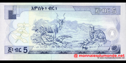 Éthiopie - p47b - 5 birr - 2000 - National Bank of Ethiopia