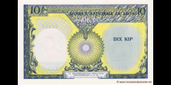 Laos - p10b - 10 Kip - ND (1962) - Banque Nationale du Laos