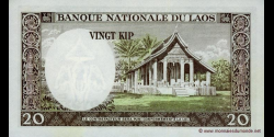 Laos - p11b - 20 Kip - ND (1963) - Banque Nationale du Laos