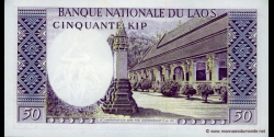 Laos - p12a - 50 Kip - ND (1963) - Banque Nationale du Laos