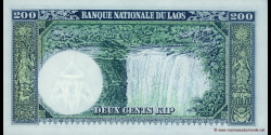 Laos - p13b - 200 Kip - ND (1963) - Banque Nationale du Laos