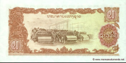 Laos - p28b - 20 Kip - ND (1979) - Bank of the Lao Peoples Democratic Republic