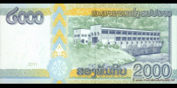 Laos - p41 - 2.000 Kip - 2011 - Bank of the Lao Peoples Democratic Republic