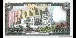Liban - p65d - 50Livres - 1988 - Banque du Liban