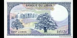 Liban - p66d - 100Livres - 1988 - Banque du Liban