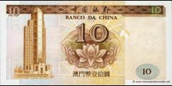 Macao - p090 - 10 Patacas - 16.10.1995 - Banco da China