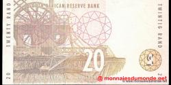 afrique du sud - p124b - 20 rand - ND (1993 - 1999) - Suid - Afrikaanse Reserwebank / South African Reserve Bank