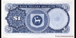 Malaisie - p01a - 1 Ringgit - ND (1967 - 1972) - Bank Negara Malaysia