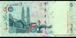 Malaisie - p41a - 5 Ringgit - ND (1999) - Bank Negara Malaysia