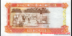 Gambie - p20a - 5 dalasis - 2001 - Central Bank of The Gambia