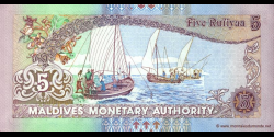 Maldives - p18b - 5 Rufiyaa - 2000 - Maldives Monetary Authority
