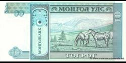 Mongolie - p54 - 10Tögrög - ND (1993) - Mongolbank