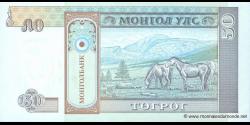 Mongolie - p56 - 50Tögrög - ND (1993) - Mongolbank