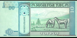 Mongolie - p62b - 10Tögrög - 2002 - Mongolbank