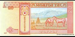 Mongolie - p63d - 20Tögrög - 2007 - Mongolbank