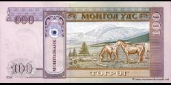 Mongolie - p65a - 100Tögrög - 2000 - Mongolbank