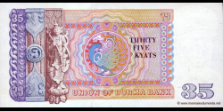Myanmar - p63 - 35 Kyats - ND (1986) - Union of Burma Bank