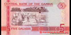 Gambie - p25 - 5 dalasis - 2013 - Central Bank of The Gambia
