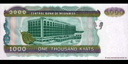 Myanmar - p77b - 1.000 Kyats - ND (1998) - Central Bank of Myanmar