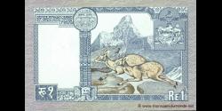 Nepal - p22b - 1Roupie - ND(1979 - 1984) - Nepal Rastra Bank