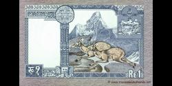Nepal - p22c - 1Roupie - ND(1985 - 1990) - Nepal Rastra Bank