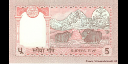 Nepal - p30a5 - 5 Roupies - ND (1995 - 2000) - Nepal Rastra Bank