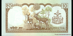 Nepal - p31b2 - 10 Roupies - ND (1995 - 2000) - Nepal Rastra Bank