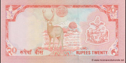 Nepal - p38b(1) - 20 Roupies - ND (1995 - 2000) - Nepal Rastra Bank