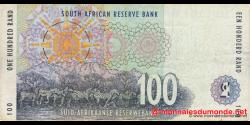 afrique du sud - p126b - 100 rand - ND (1994 - 1999) - Suid - Afrikaanse Reserwebank / South African Reserve Bank