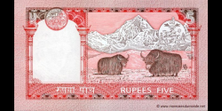 Nepal - p53c - 5 Roupies - ND (2005 - 2007 and 2009 - 2010) - Nepal Rastra Bank