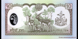 Nepal - p54 - 10 Roupies - ND (2005) - Nepal Rastra Bank