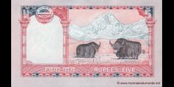 Nepal - p60b - 5 Roupies - ND (2009 - 2010) - Nepal Rastra Bank