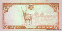 Nepal - p62b - 20 Roupies - ND (2010) - Nepal Rastra Bank