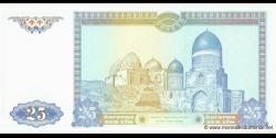 Ouzbékistan - p77 - 25Sum - 1994 - O'zbekiston Respublikasi Markaziy Banki