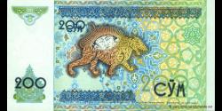 Ouzbékistan - p80 - 200Sum - 1997 - O'zbekiston Respublikasi Markaziy Banki