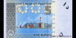 Pakistan - p53a - 5 Roupies - 2008 - State Bank of Pakistan