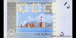 Pakistan - p53c - 5 Roupies - 2010 - State Bank of Pakistan
