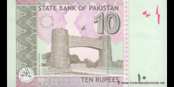 Pakistan - p54c - 10 Roupies - 2010 - State Bank of Pakistan