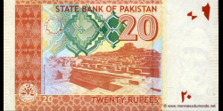 Pakistan - p55Aa - 20 Roupies - 2007 - State Bank of Pakistan