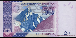 Pakistan - p56b1 - 50 Roupies - 2010 - State Bank of Pakistan