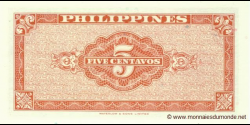 Philippines - p126 - 5 Centavos - ND (1949) - Central Bank of the Philippines