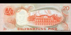 Philippines - p155 - 20Piso - ND (1970) - Bangko Sentral ng Pilipinas