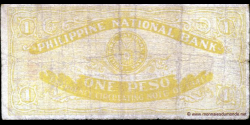 Philippines - pS215 - 1 Peso - 29.12.1941 - Philippine National Bank