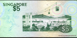 Singapour - p10 - 5 Dollars - ND (1976) - Board of Commissioners of Currency