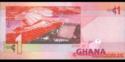 Ghana - p37b(2) - 1 cedi - 06.03.2010 - Bank of Ghana