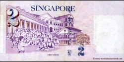 Singapour - p38 - 2 Dollars - ND (1999) - Board of Commissioners of Currency