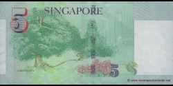 Singapour - p47 - 5 Dollars - ND (2005) - Monetary Authority of Singapore