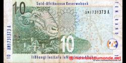 afrique du sud - p128a - 10 rand - ND (2009) - South African Reserve Bank / Suid - Afrikaanse Reserwebank / liBhangi lesiLulu l